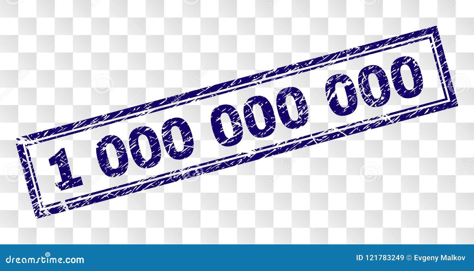 Grunge 1 000 000 000 Rectangle Stamp