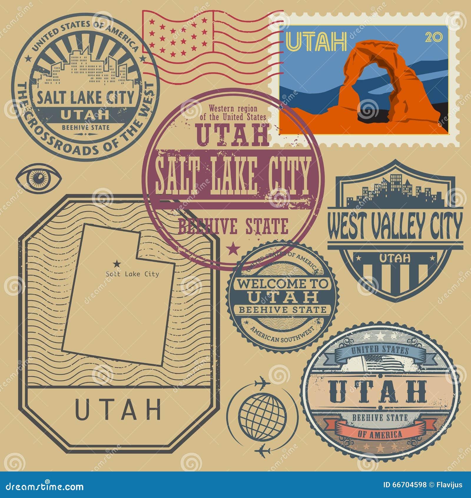Salt Lake City Utah Printable Vector Street City Plan Map V Utah - Usa zip code utah