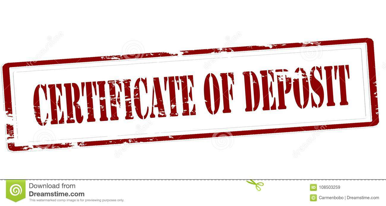 Certificate Of Deposit Stock Illustration Illustration Of Grungy