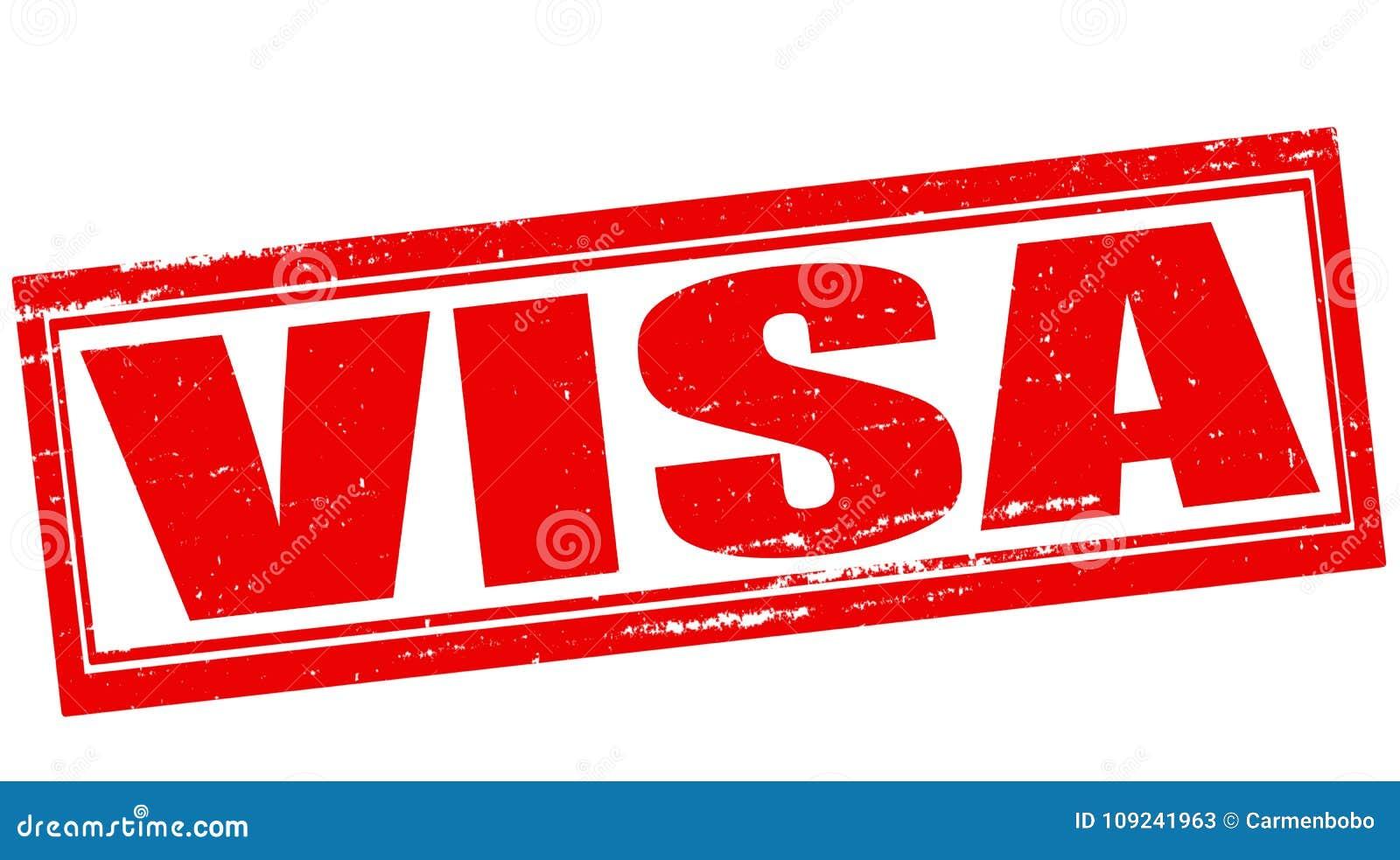 Visa Stock Illustration Illustration Of Rubber Symbol 109241963