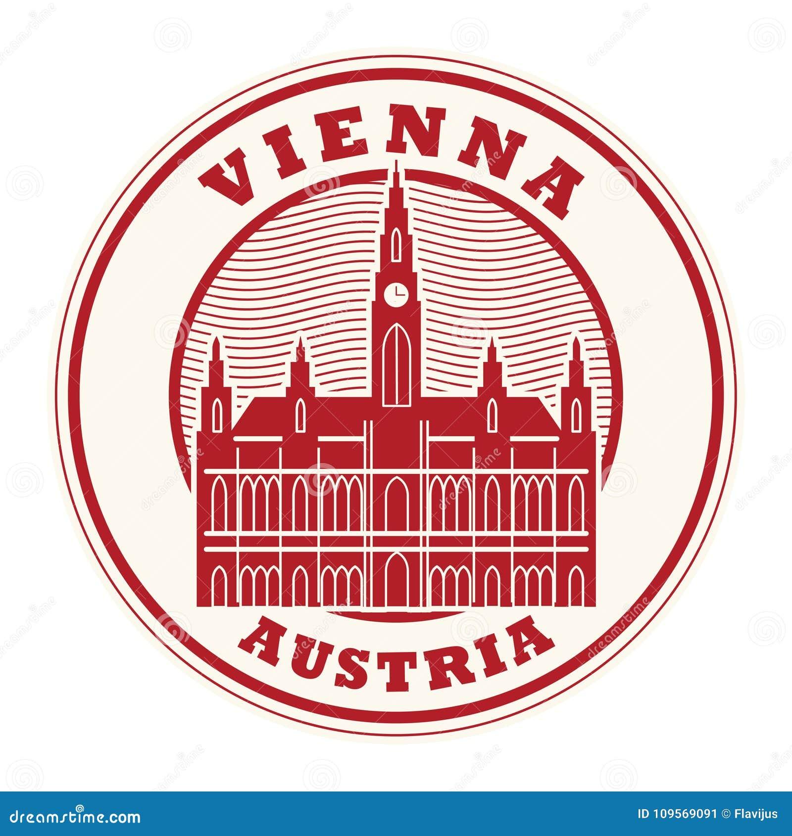 Stamp With Words Vienna Austria