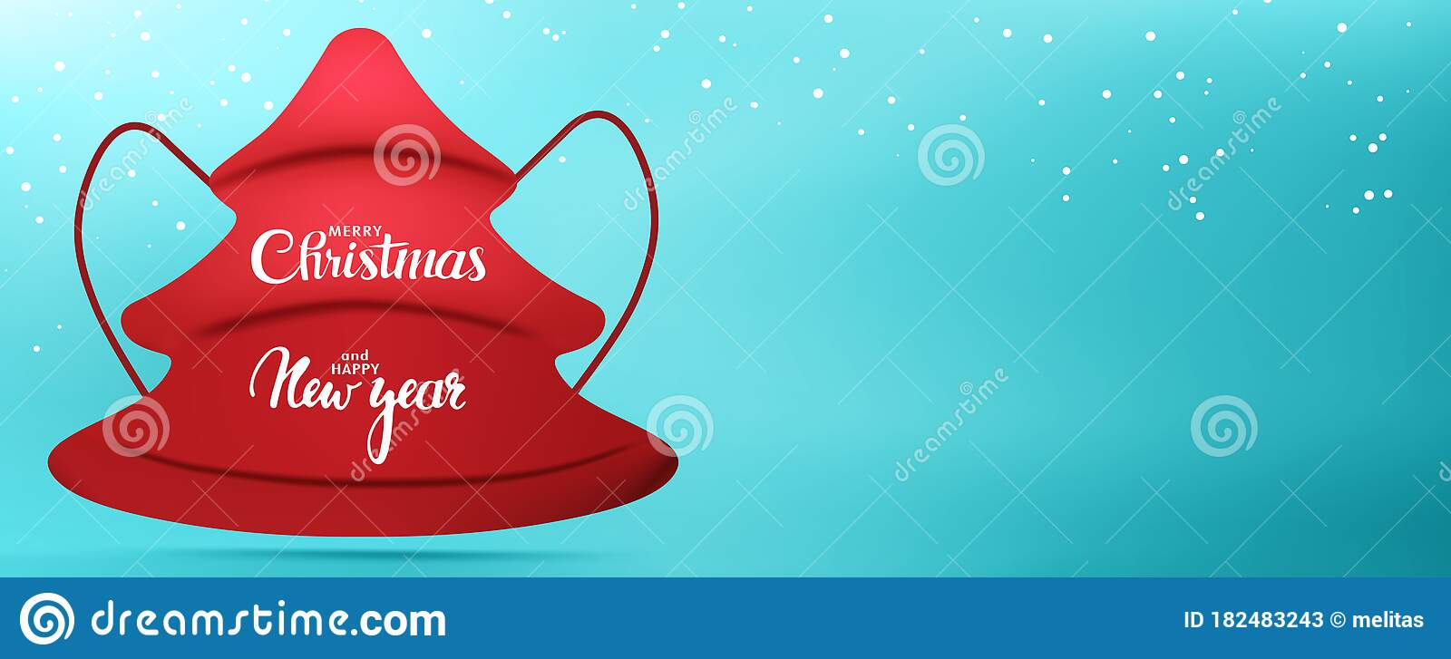 web banner christmas greetings with red medical mask in the shape of a fir tree with the inscription merry christmas and happy new stock vector illustration of celebration banner 182483243 dreamstime com