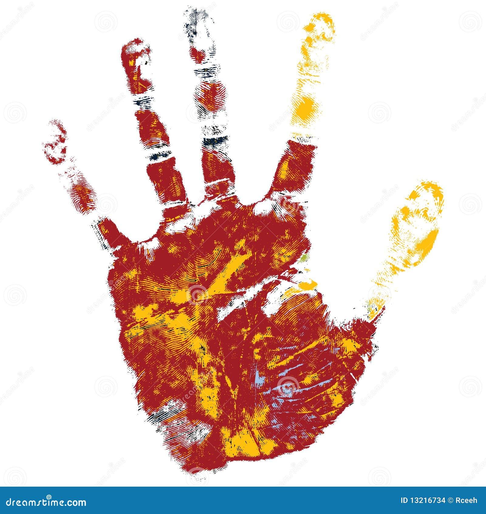 Stampa della mano