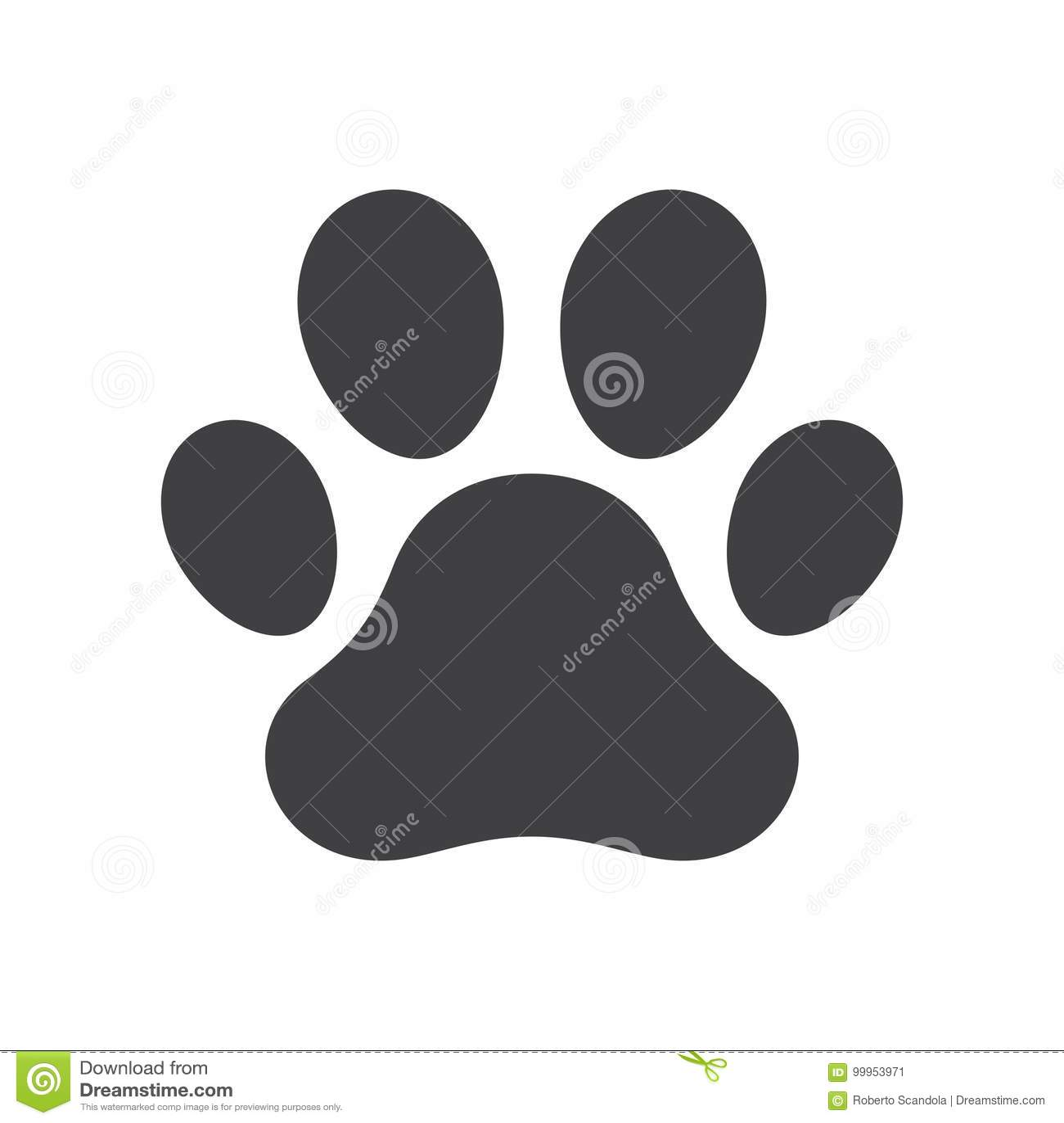 Stampa della zampa del cane di vettore
