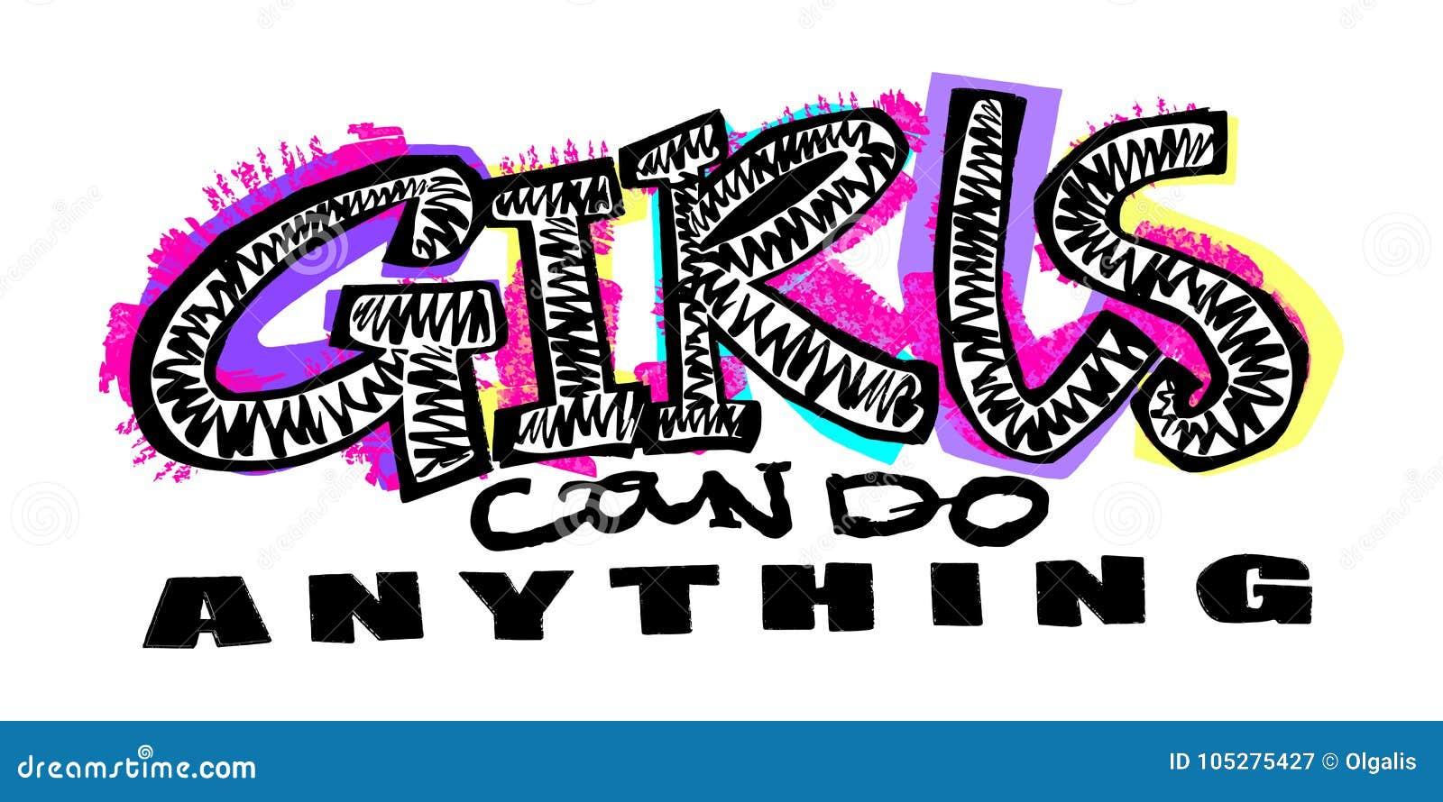 Stampa funky di motivazione delle ragazze della maglietta dei pantaloni a vita bassa nei graffiti urbani