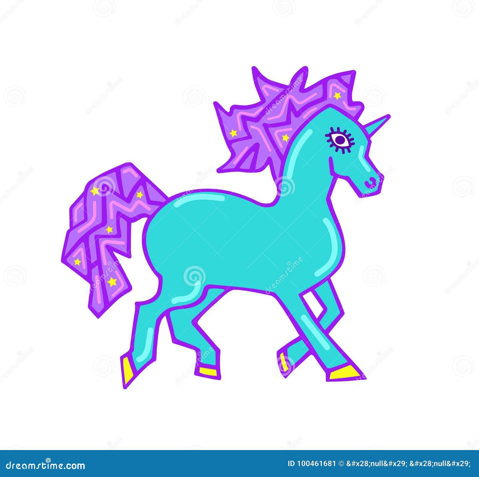 Di La Magico Unicorno Maglietta L'unicorno Per Con Stampa Fantasia iukXZTOP