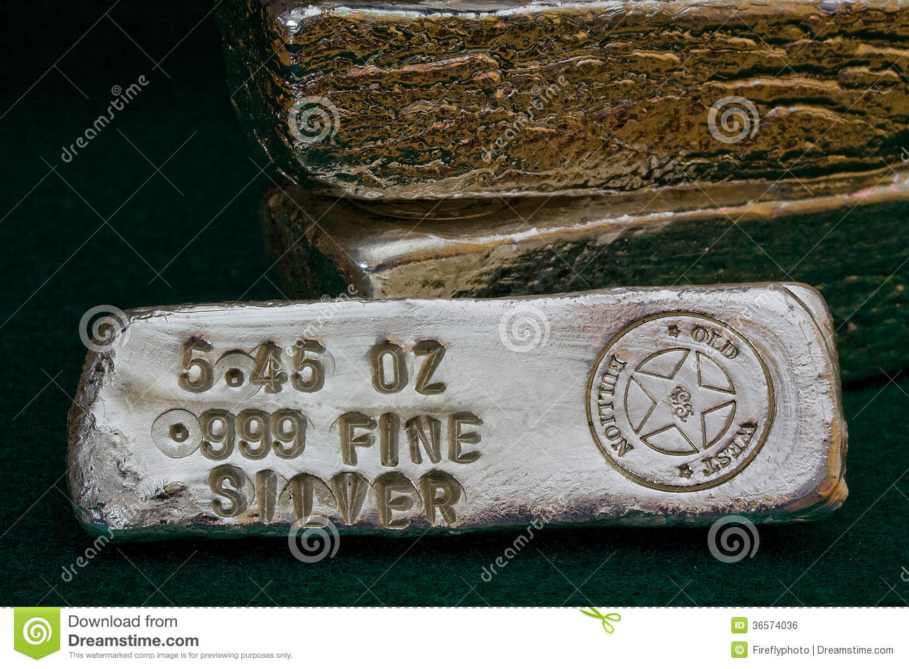 Stamped Silver Bullion Bars Stock Photo Image Of Fine