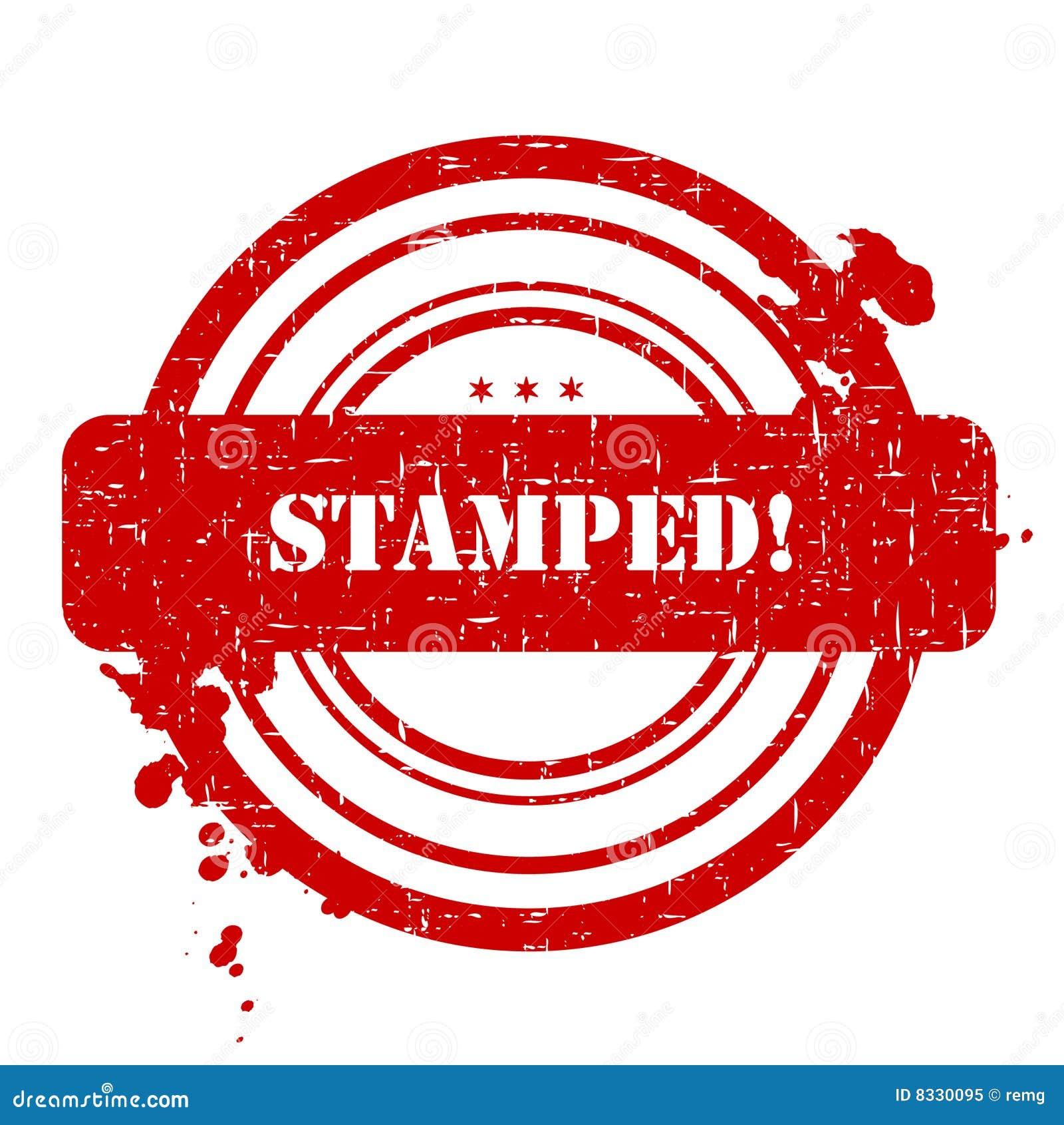 stamped stamp stock illustration illustration of damaged 8330095