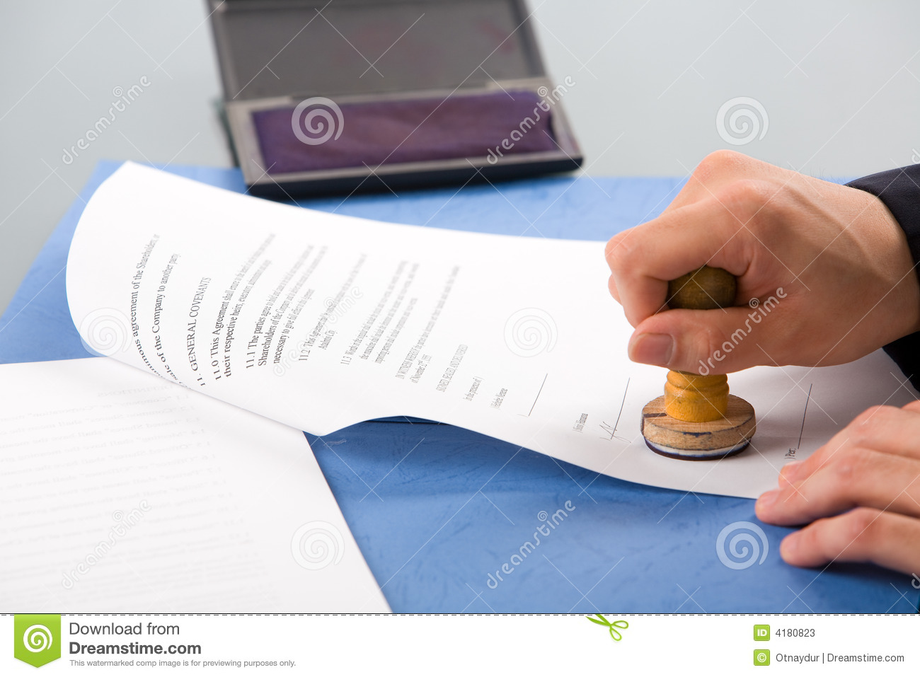 Stamping The Document Stock Photos Image 4180823