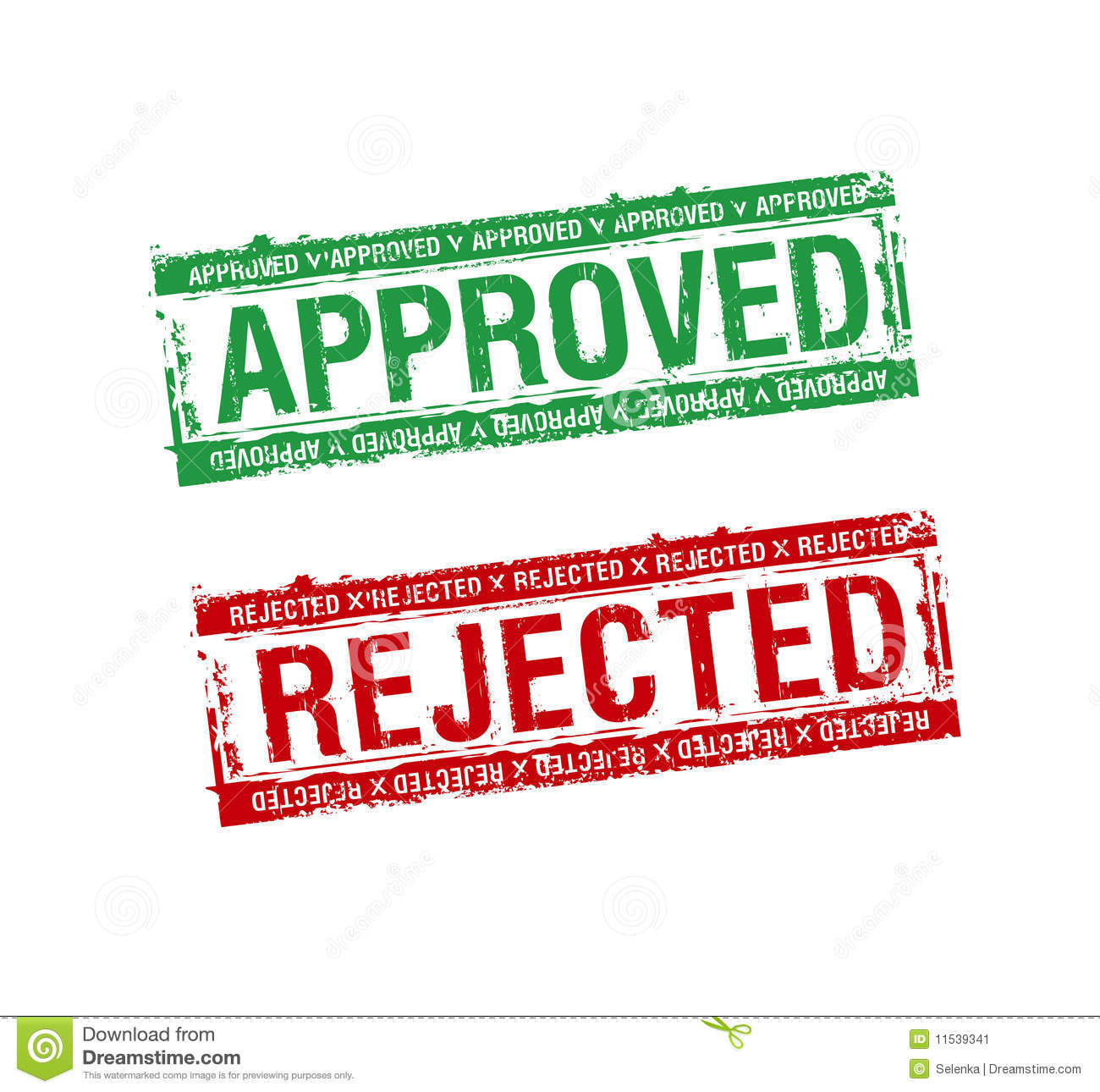 Stamps approved and rejected stock image image 11539341
