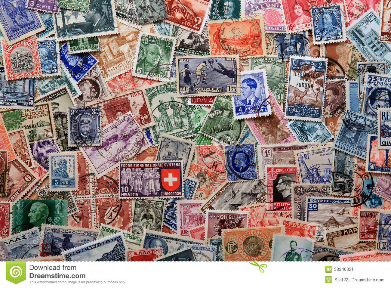 stamps background stock image image of collected european 38346821