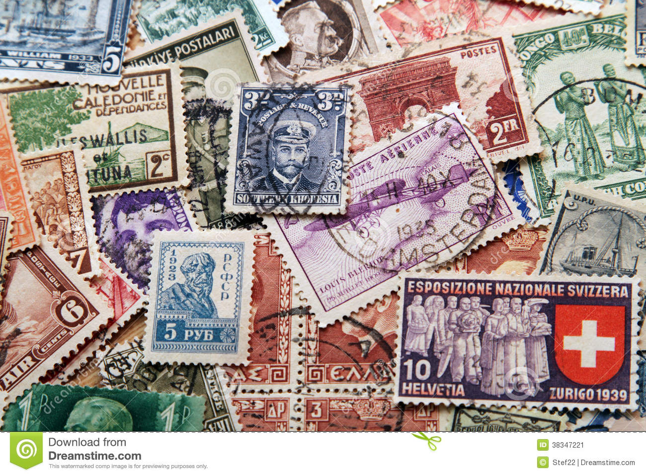 stamps background stock image image of color greek 38347221