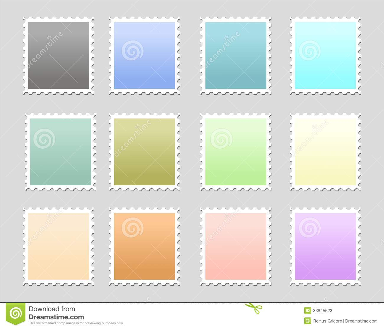 Stamps Cdr Format Stock Photos Image 33845523