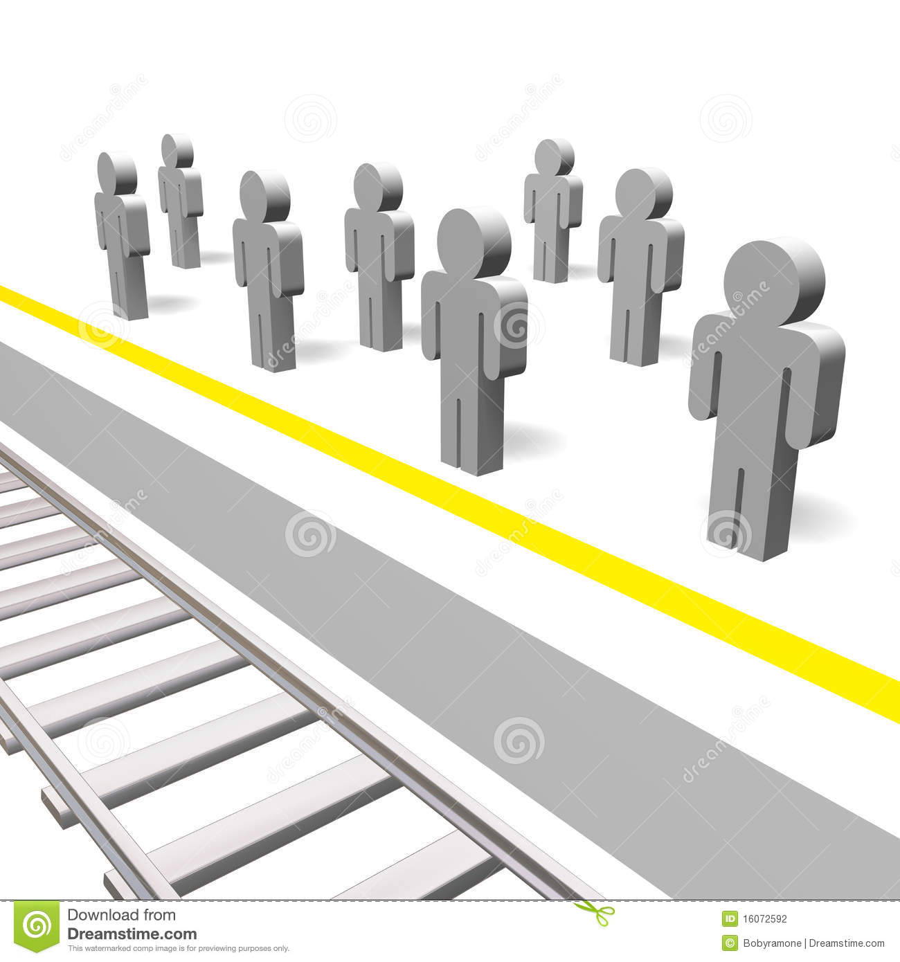 stand behind the yellow line stock photography
