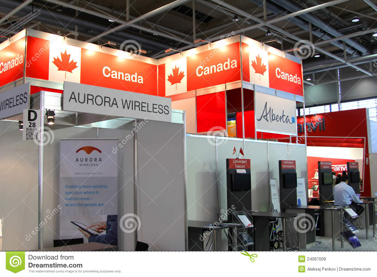 Expo Exhibition Stands Canada : Stand of canada in cebit computer expo editorial stock