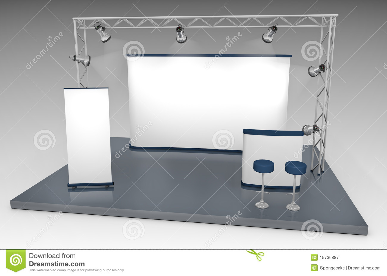 Stand commercial d 39 exposition photographie stock libre de for Stand commercial