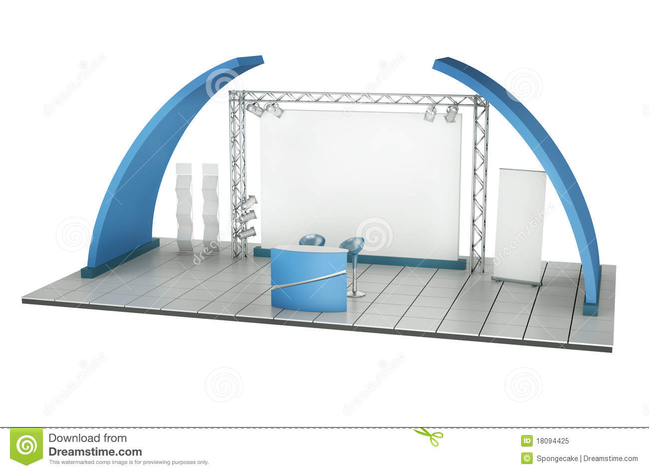 stand commercial d 39 exposition illustration stock