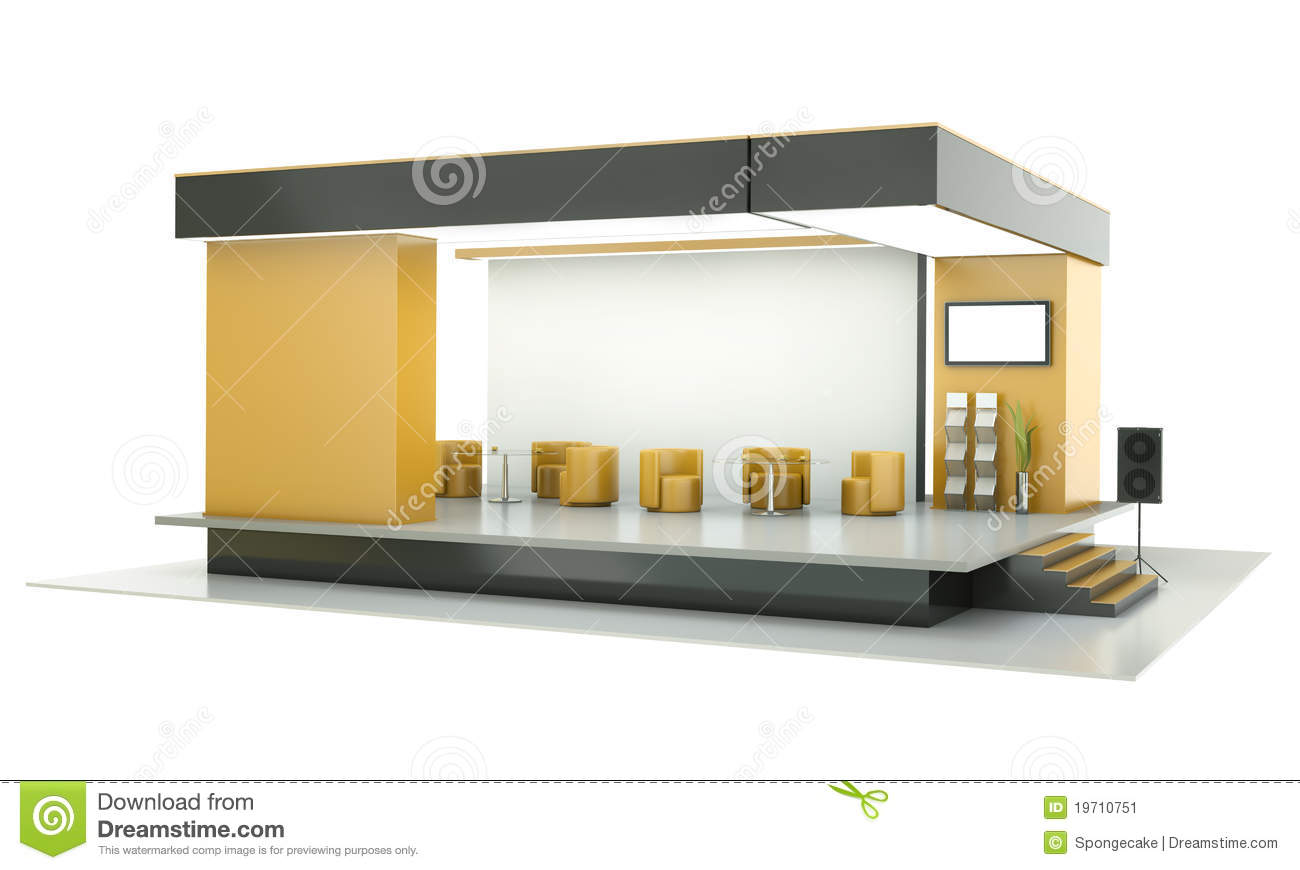Stand d 39 exposition illustration stock image du clairage for Stand pour foire expo