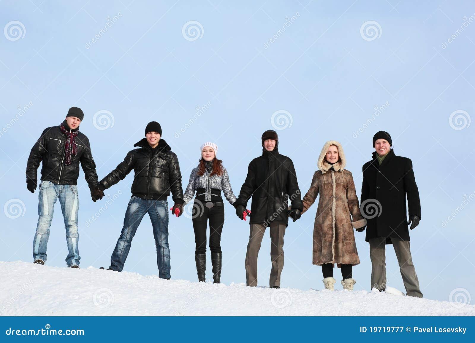 Stand för snow för handhållfolk till