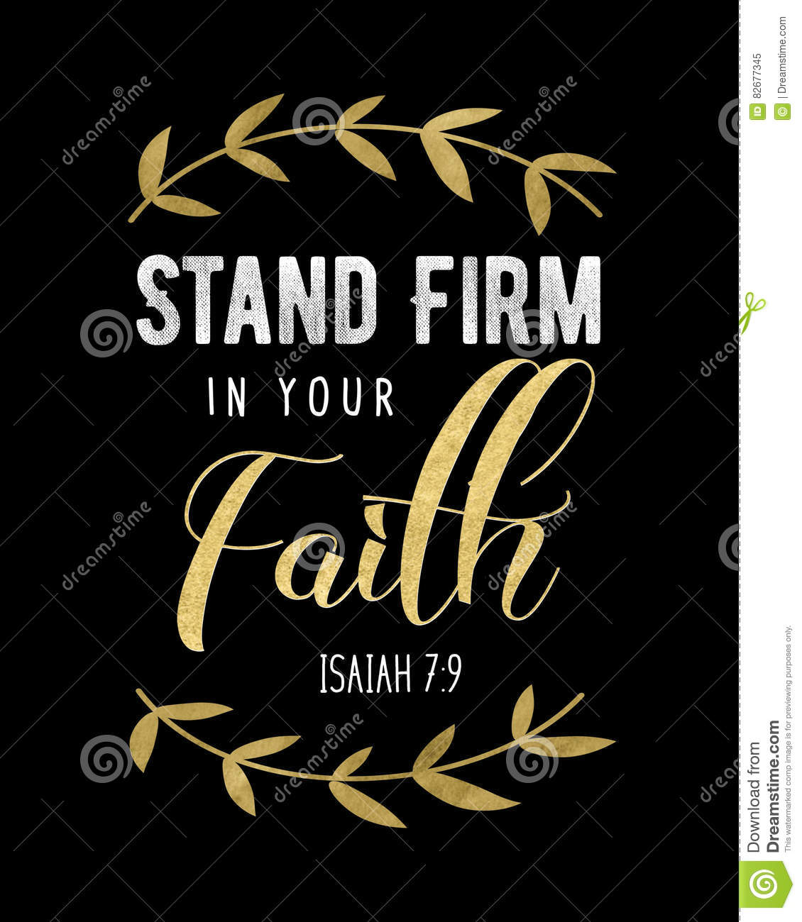 Stand Firm Designs : Stand firm in your faith stock illustration