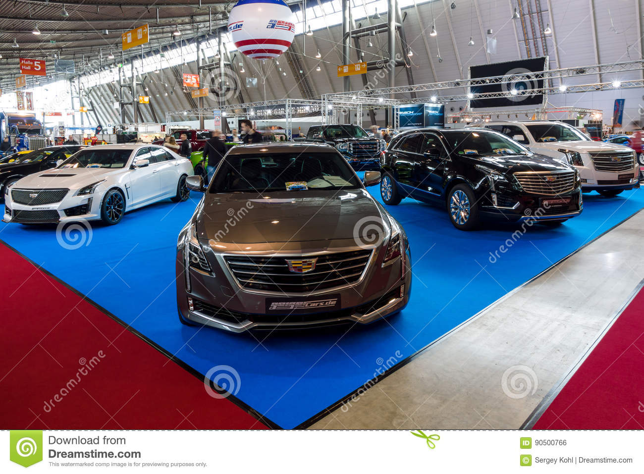 Stand With Modern American Cars. In The Foreground Cadillac CT6 ...