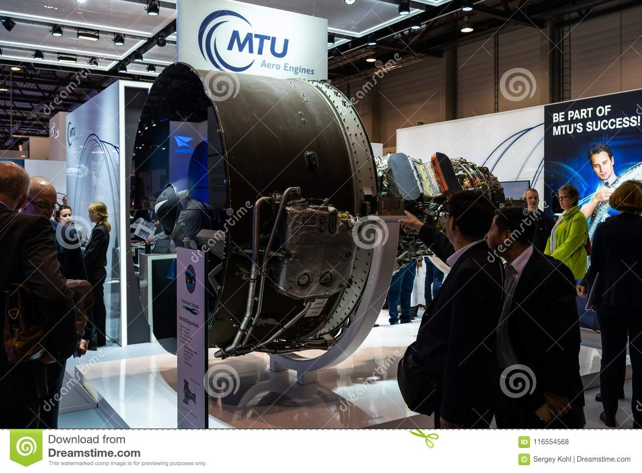 The Stand Of MTU Aero Engines And High-bypass Geared