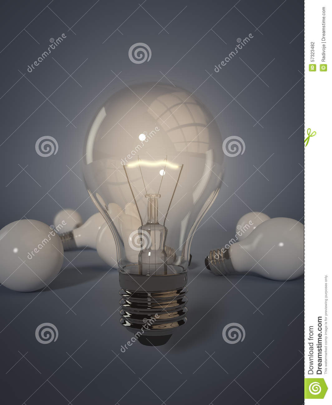 Stadium Lights Light Bulb: Stand Out From The Crowd Stock Illustration