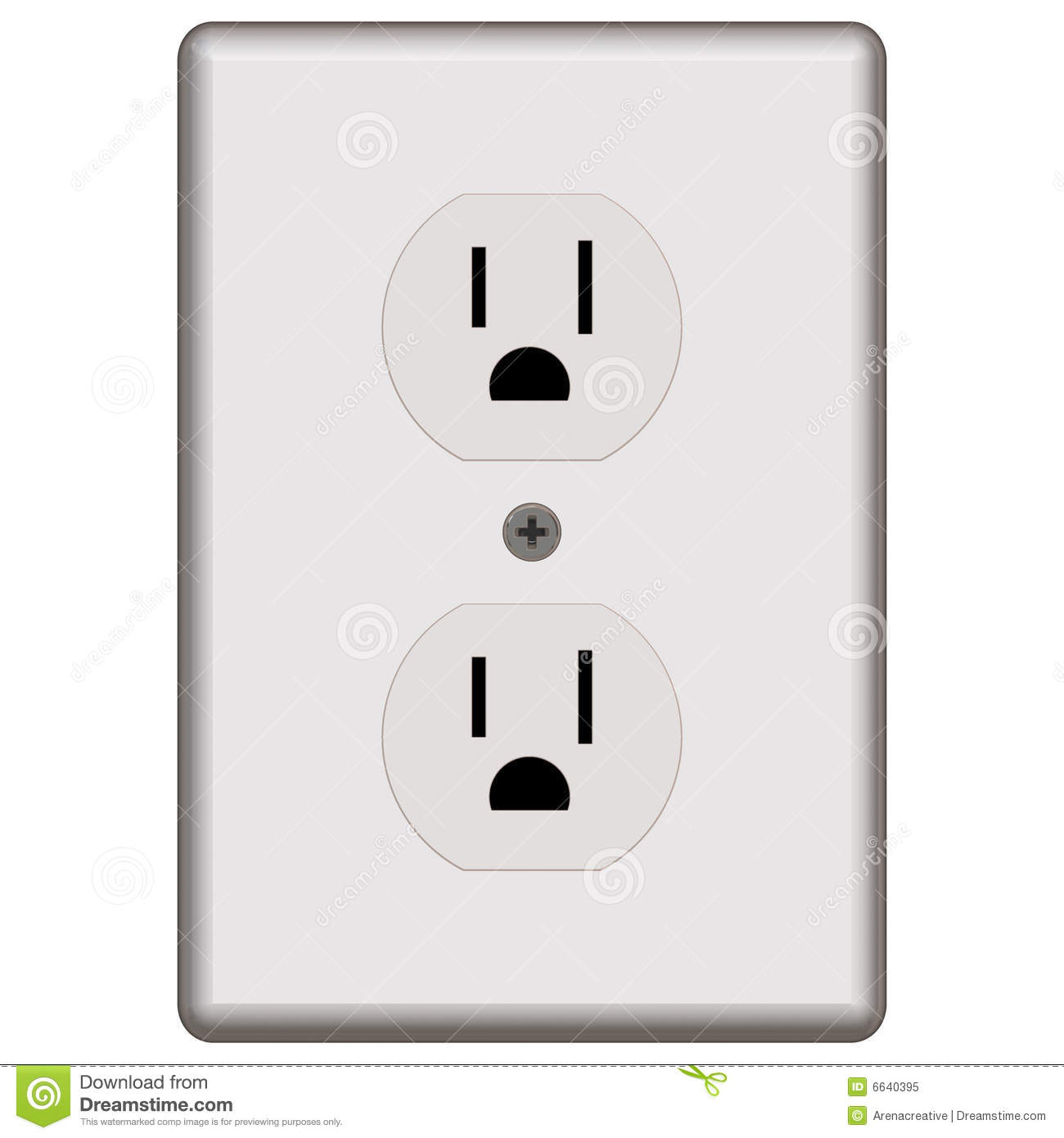 Standard electrical outlet stock illustration illustration of standard electrical outlet biocorpaavc Choice Image