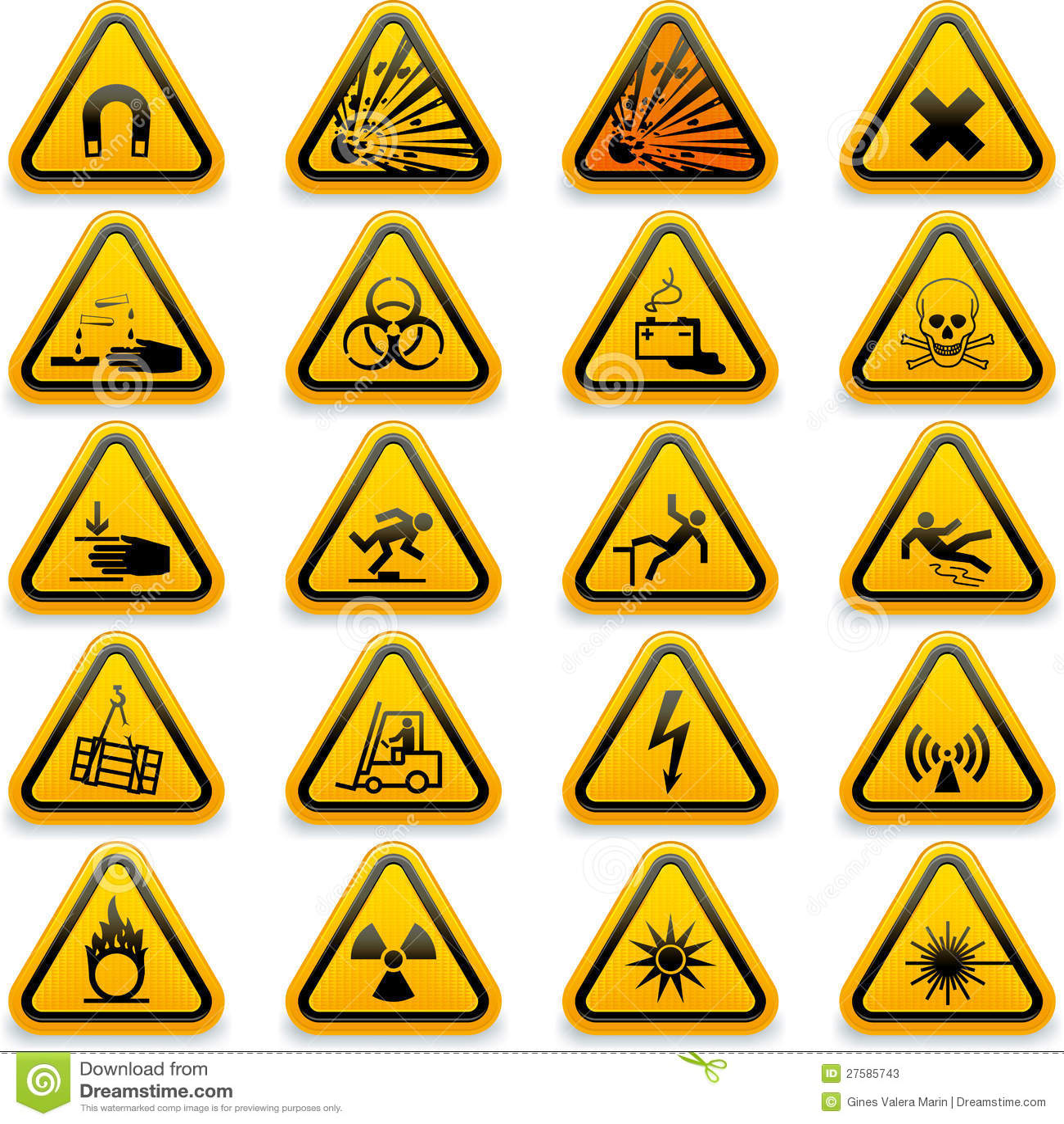 Standard Hazard Symbols Stock Vector Illustration Of Standard