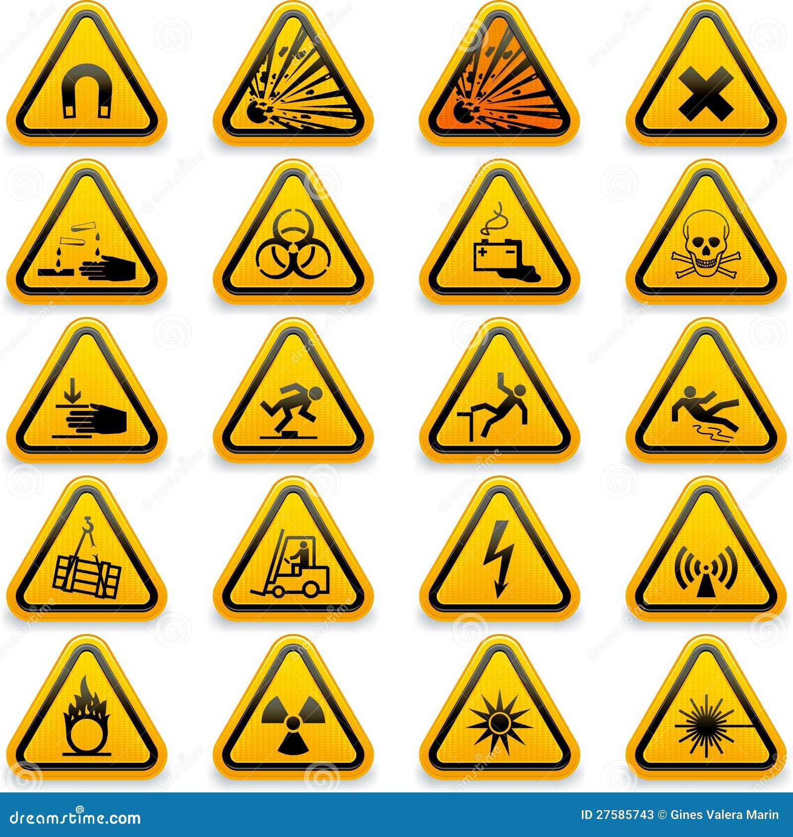 Standard hazard symbols stock vector illustration of standard standard hazard symbols biocorpaavc Gallery