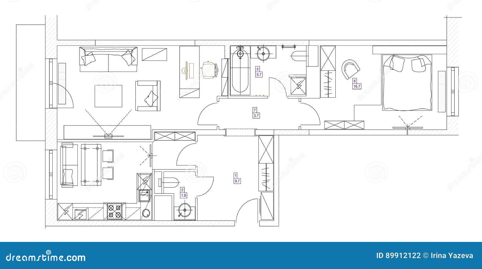 Architectural Drawing Set architectural furniture symbols drawings,furniture.printable