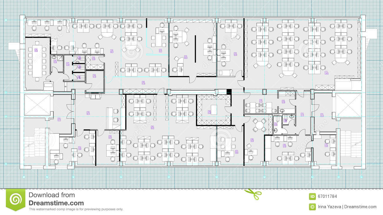Standard office furniture symbols on floor plans stock illustration standard office furniture symbols on floor plans malvernweather Gallery
