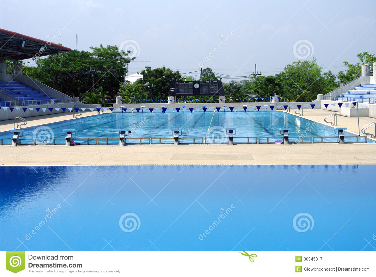 Standard outdoor swimming pool royalty free stock Swimming pool beautiful
