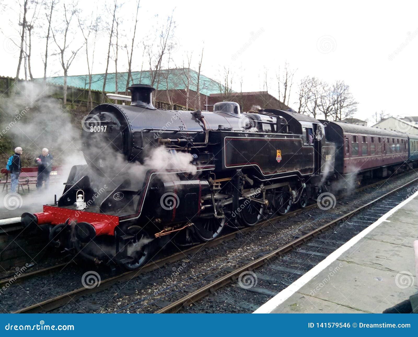 Standard 4 Tank steam engine Bury Station