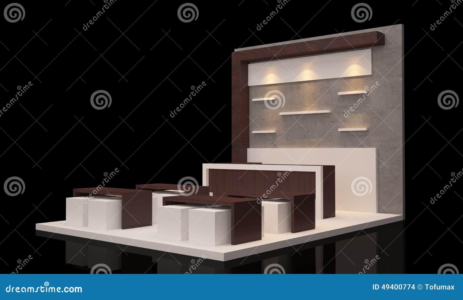 Download Standausstellung stock abbildung. Illustration von geschäft - 49400774