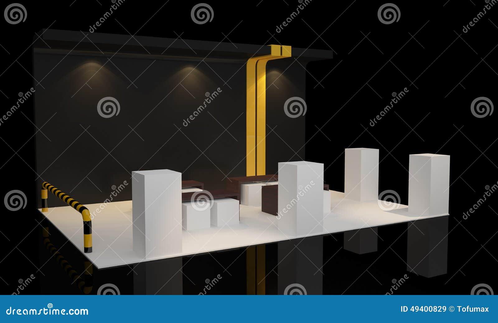 Download Standausstellung stock abbildung. Illustration von darstellung - 49400829