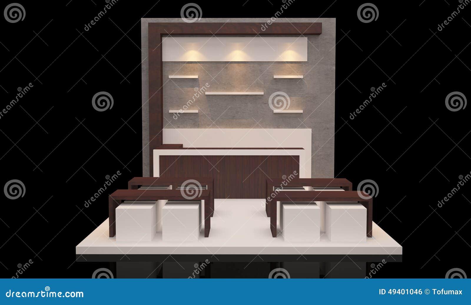 Download Standausstellung stock abbildung. Illustration von förderung - 49401046