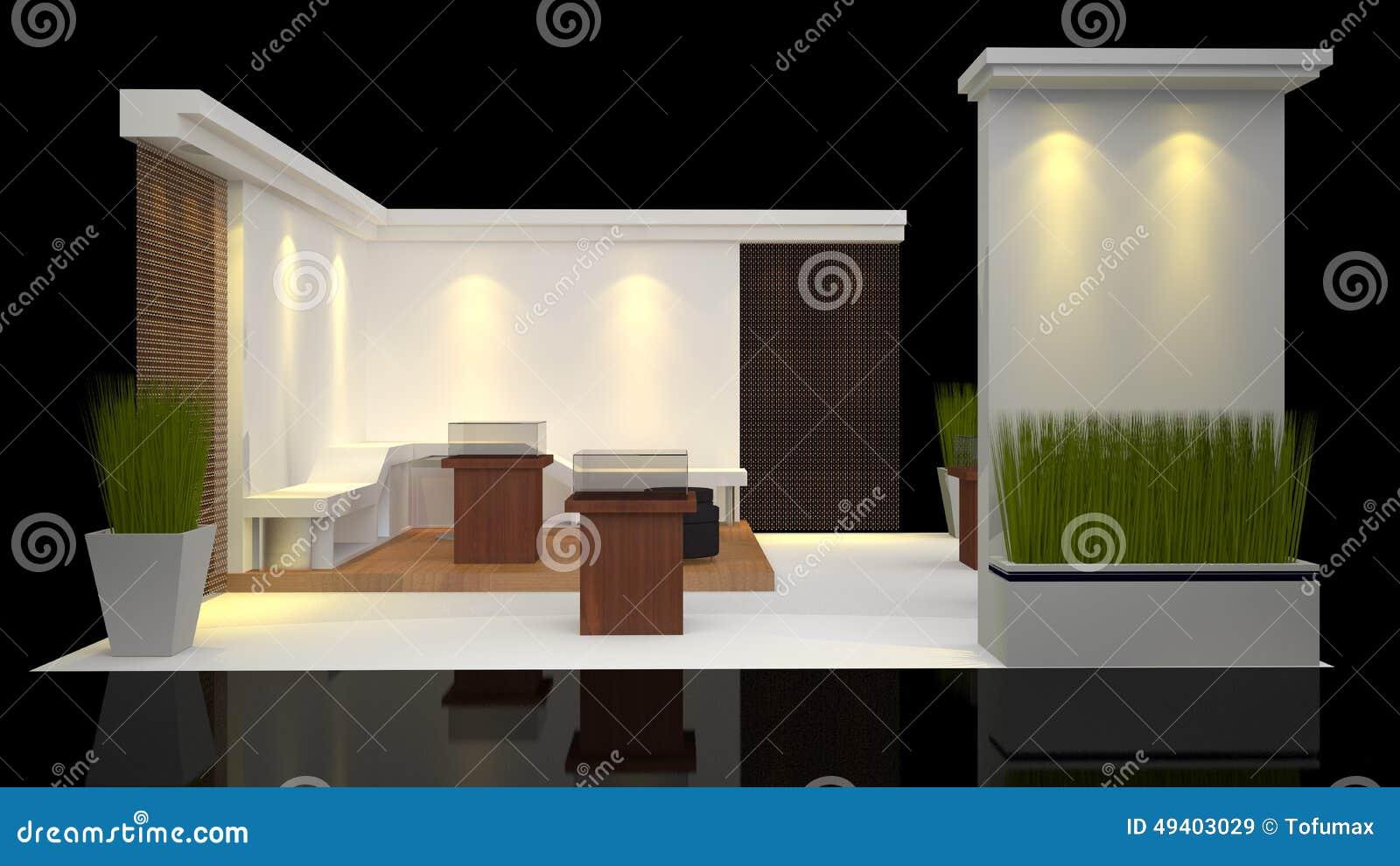 Download Standausstellung stock abbildung. Illustration von fall - 49403029