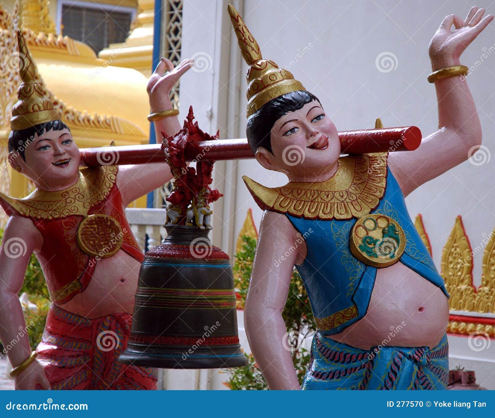 Standbeeld in Birmaanse Tempel
