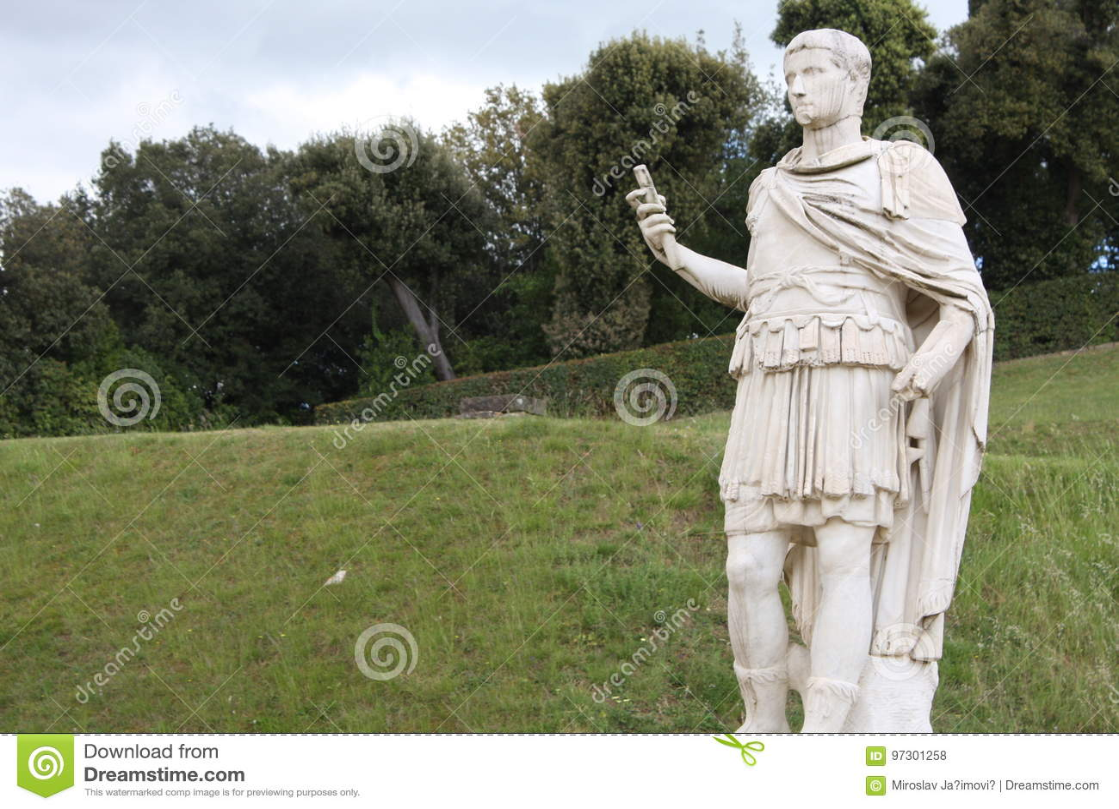 Standbeeld in Boboli-Tuinen - Florence, Toscanië, Italië