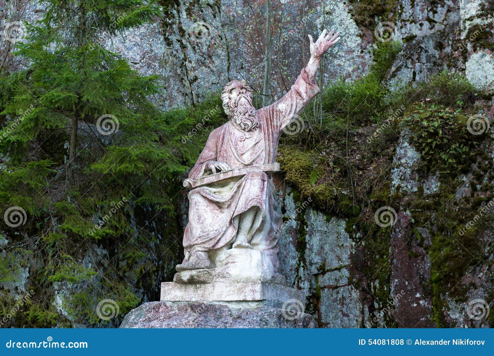 Standbeeld van de oude mens