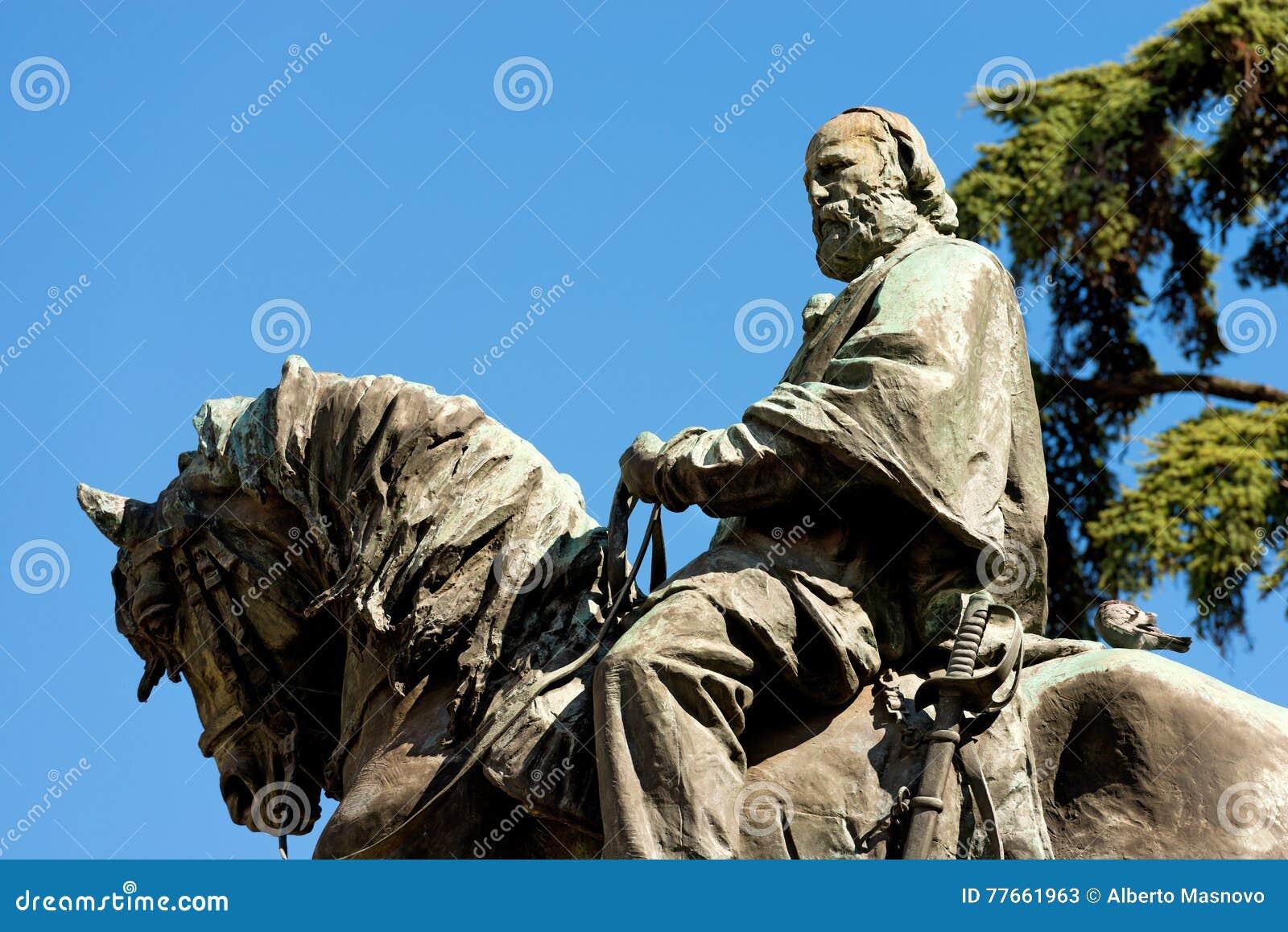 Standbeeld van Giuseppe Garibaldi - Verona Italy