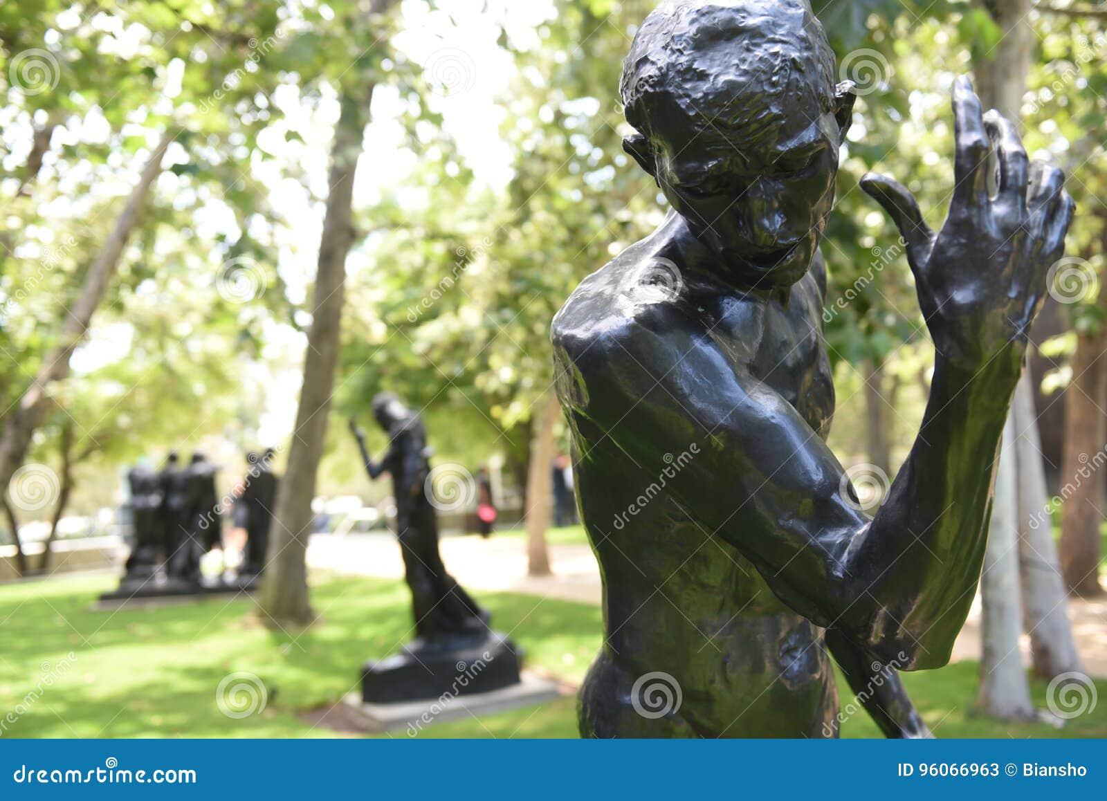 Standbeeld van Pierre De Wissant Nude door Auguste Rodin
