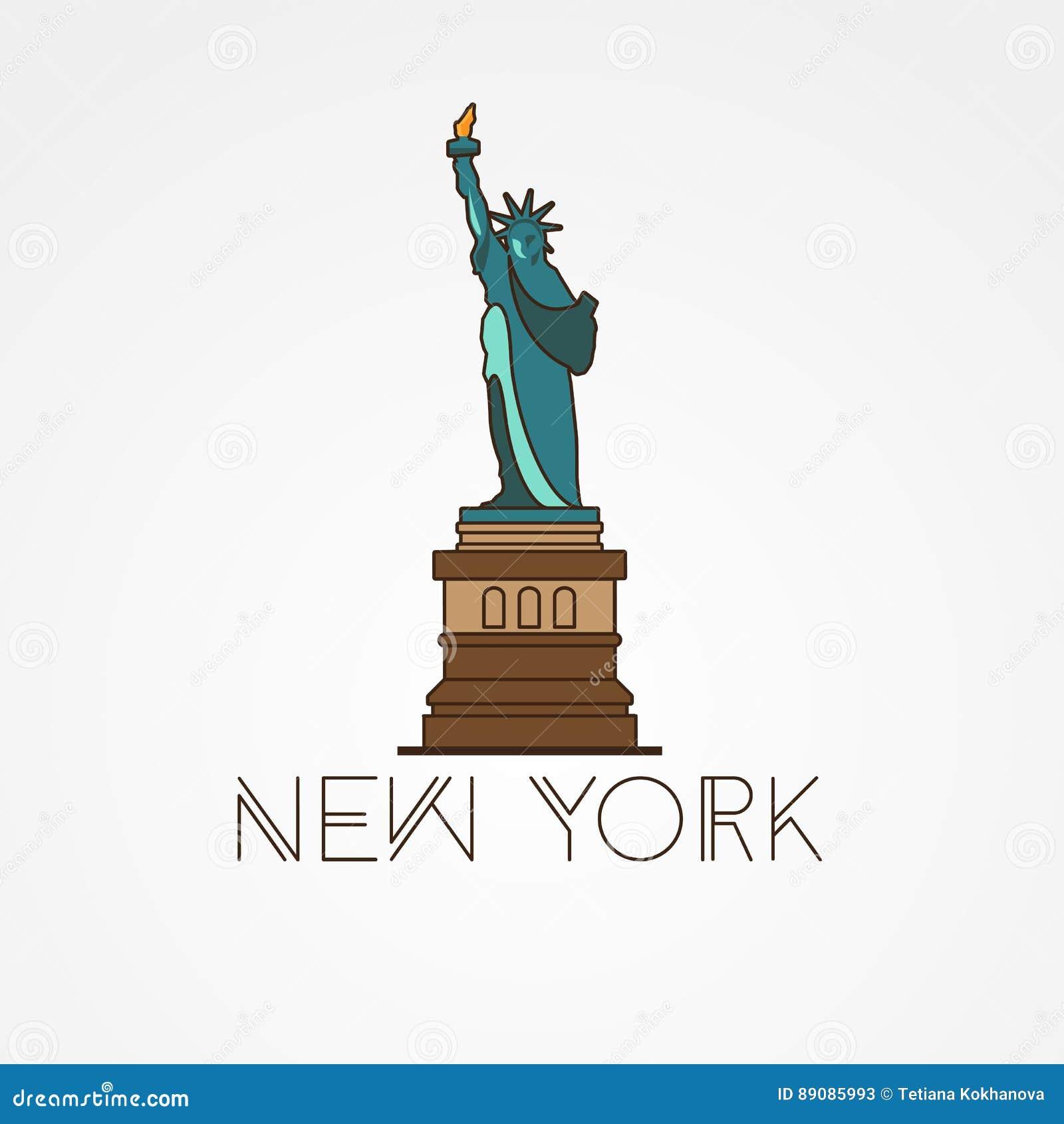 Bekend Standbeeld Van Vrijheid - Het Symbool Van De V.S., New York Vector @TT17