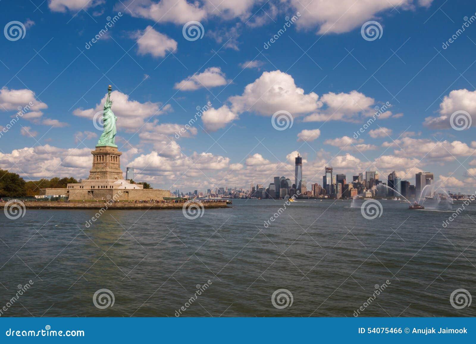 Standbeeld van Vrijheid in New York, de V