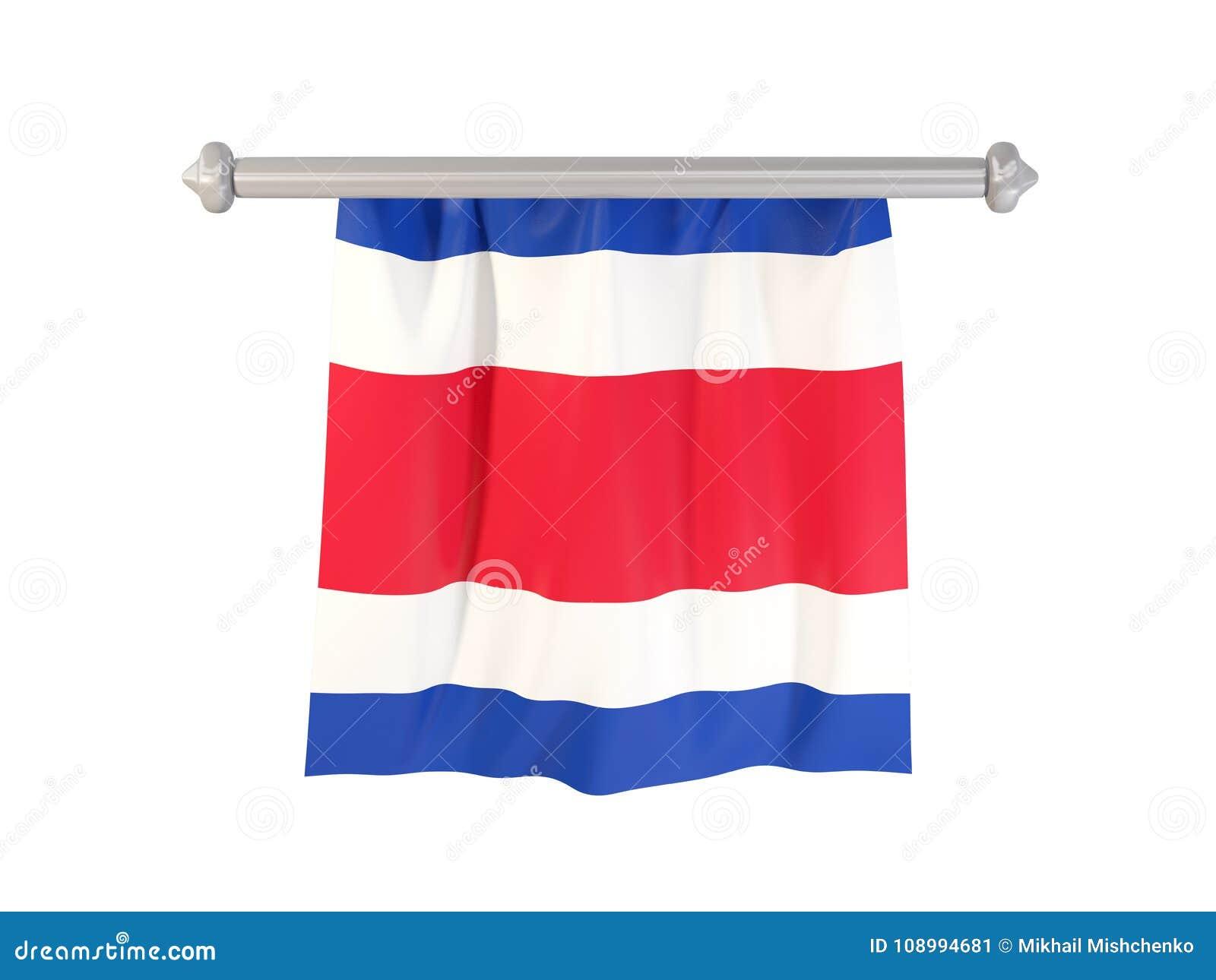 Standert med flaggan av Costa Rica