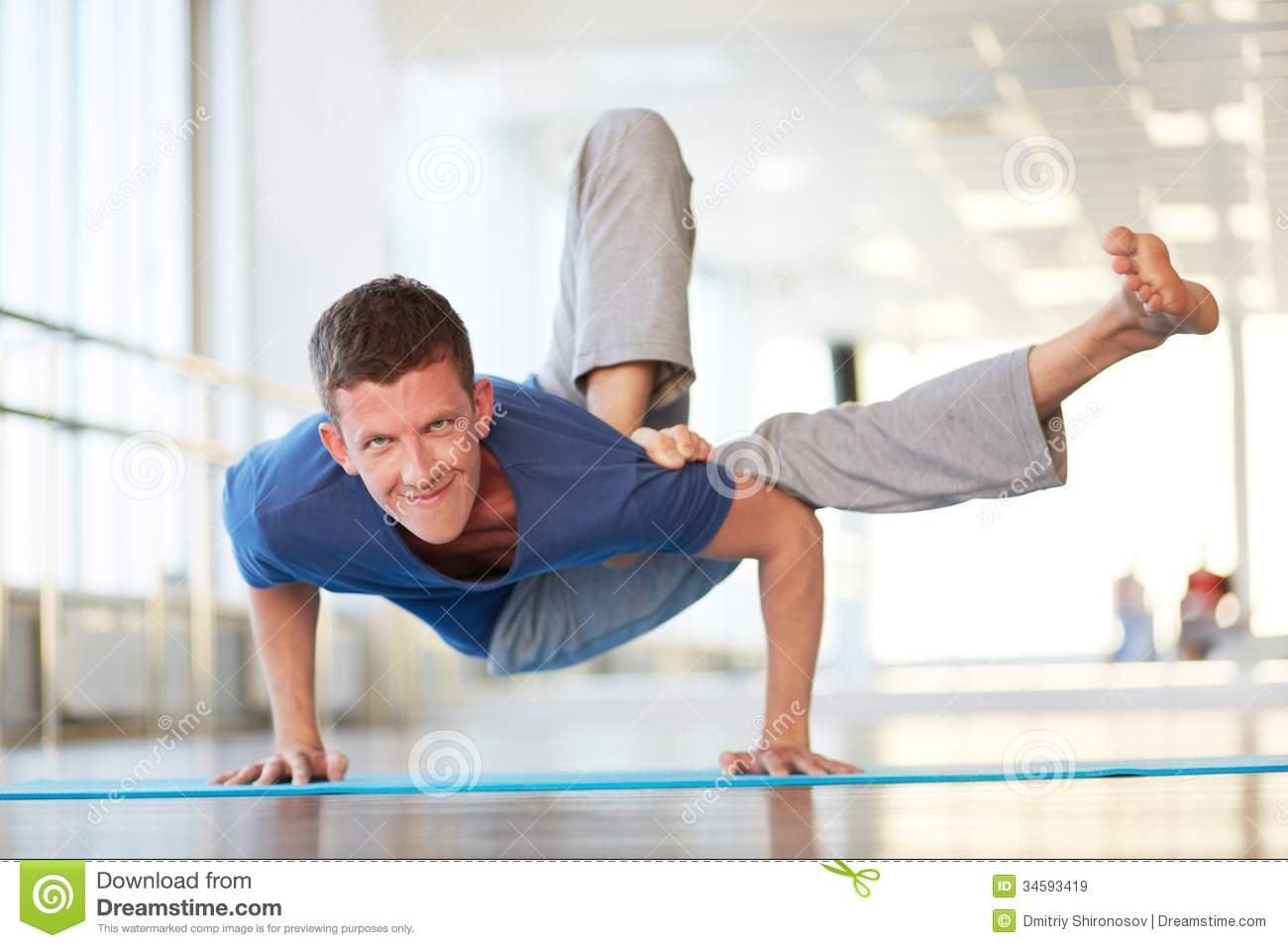 standing on arms stock image image of fitness energetic 34593419