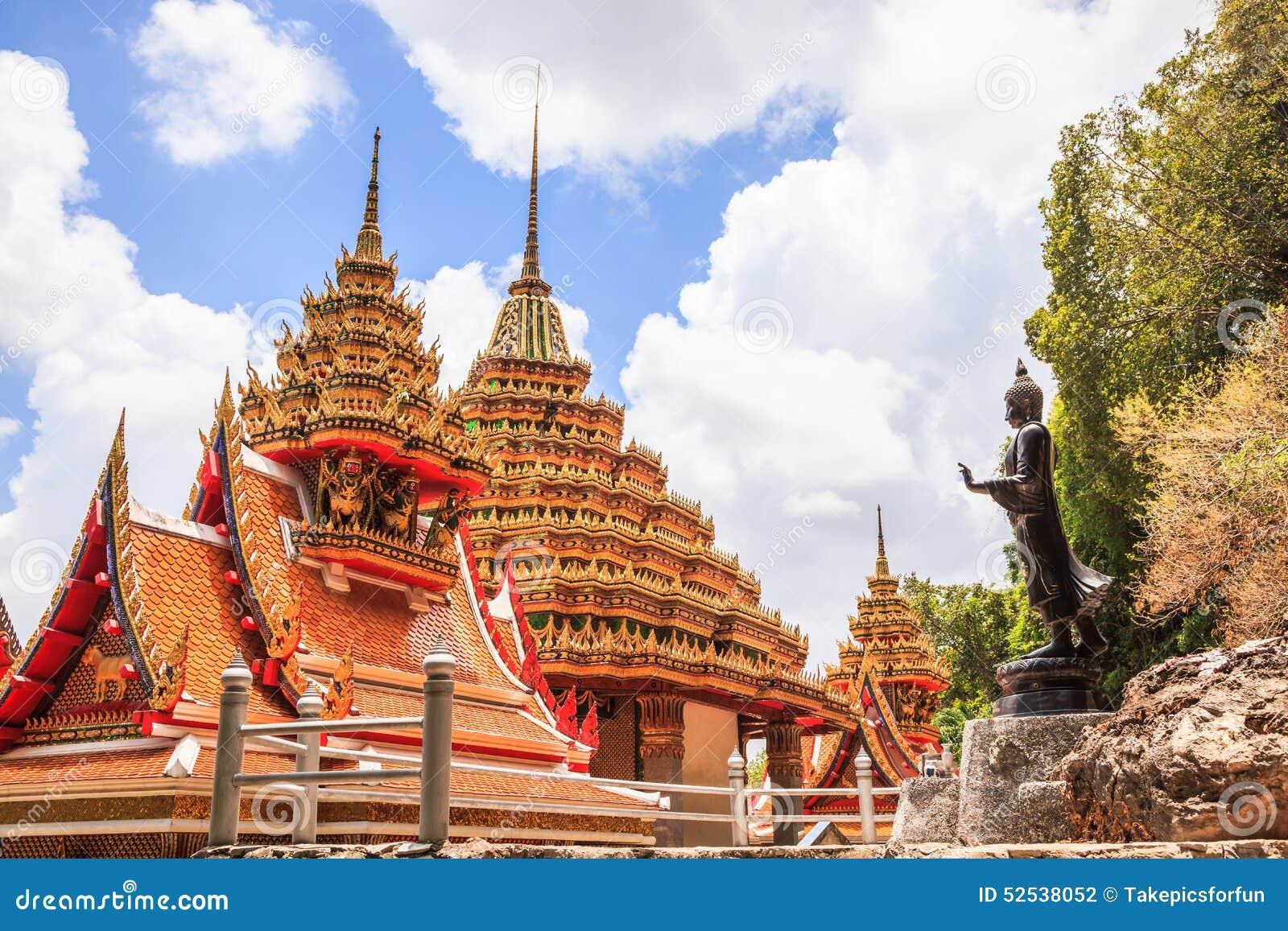 Standing Buddha Statue Stock Photo - Image: 52538052