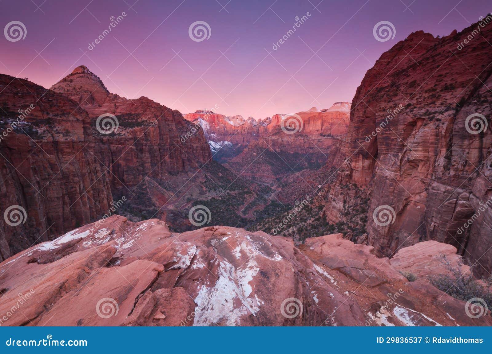 Sunrise over Zion National Park