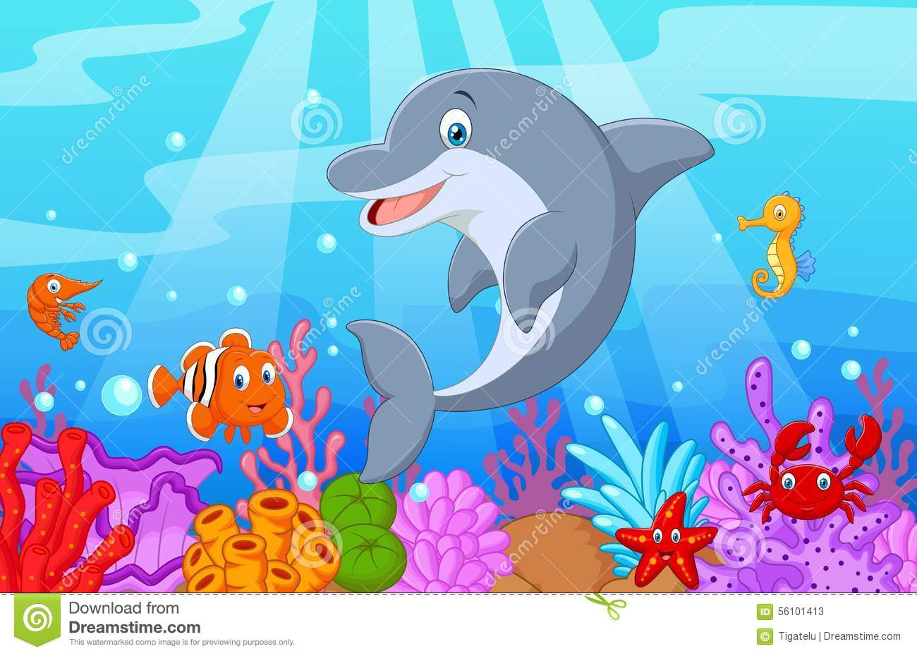 standing dolphin cartoon with collection fish stock vector free starfish clip art pictures Starfish Clip Art